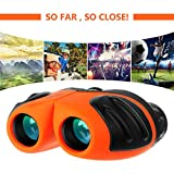 Binoculars for Kids, Outdoor Toys for 4-8 Year Old Boys, Compact Kids Binoculars Gifts for Girl Age 5-9 Birthday Present for Kids 8x21 Orange