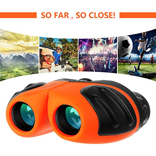 New Kids Binoculars, 8x21 Compact Shockproof Binocular for Kids Outdoor Toys for 4-10 Year Old Boys ...