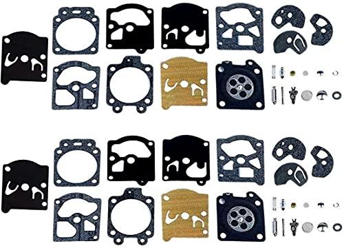 Poweka Kit de Reparación del Carburador Junta Membrana Compatible con Walbro K10-WAT WA & WT Series STI-HL Husq-Varna Poulan McCulloch Echo (2 Juegos)