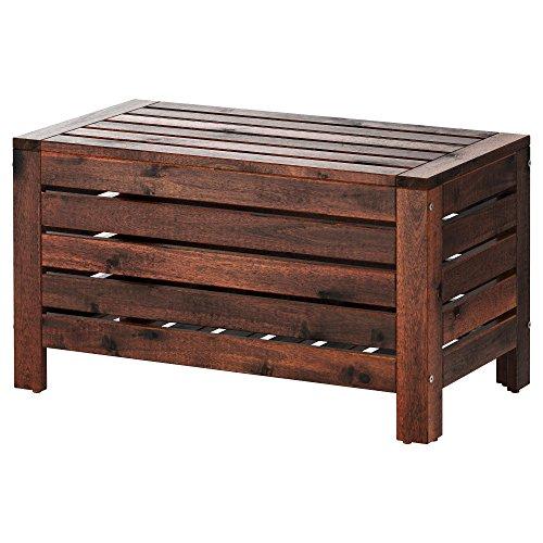 Ikea ÄPPLARÖ - Banco de almacenaje para exteriores (80 x 41 x 44 cm), color marrón