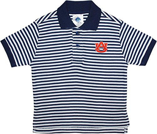 University of Auburn Tigers Striped Polo Shirt