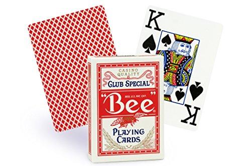 Cartes Bee poker jumbo (rouge)