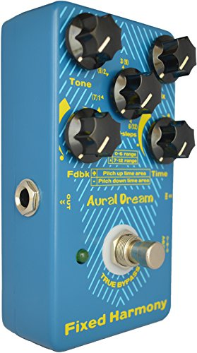 Aural Dream Fixed Harmony Guitar Pedal with Legend Delay Harmony and Shifting 24 semitones or Octave(s) effects for Cascaded harmony of the fixed scale difference,True Bypass.