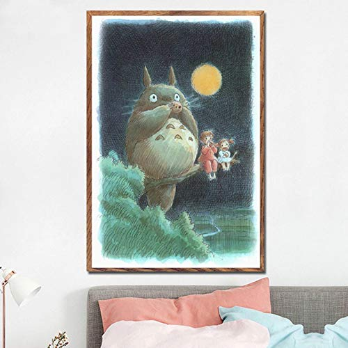 N/A My Neighbour Totoro Ghibli Miyazaki Hayao Classic Anime Movie Art Canvas Painting Poster Wall Home Decor-60x80cm
