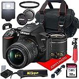 Nikon D3500 W/AF-P DX NIKKOR 18-55mm f/3.5-5.6G VR + Case + 32GB SD Card (15pc Bundle)