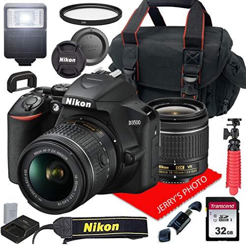 Nikon D3500 W/AF-P DX NIKKOR 18-55mm f/3.5-5.6G VR + Case + 32GB SD Card...