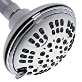 ShowerMaxx, Luxury Spa Series, 6 Spray Settings 4.5 inch Adjustable High Pressure Shower Head, MAXX-imize Your Shower with Showerhead in Polished Chrome Finish