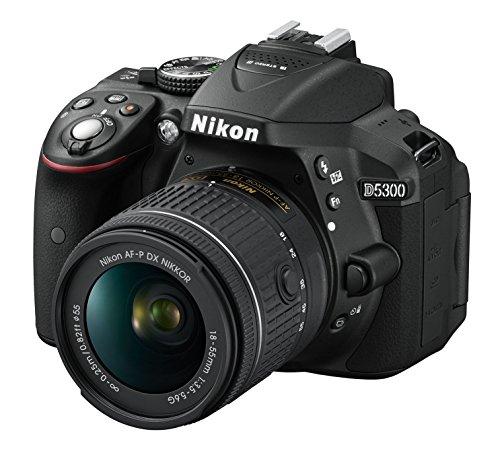 Nikon D5300 Kit AF-P 18-55 + AF-P 70-300 non-VR - Cámara réflex digital 24.2 Mp, color negro