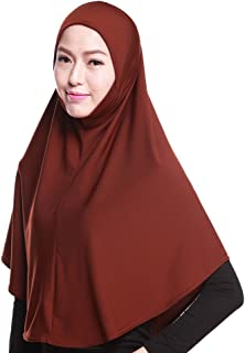 Muslim Hijab Amira Islamic Solid Soft Scarf Long Hejab Head Shawls