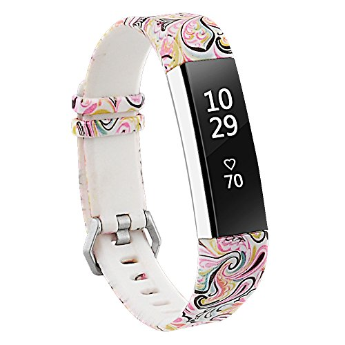 RedTaro Bands Compatible with Fitbit Alta and Fitbit Alta HR,Paisley,Standard Size for 5.5