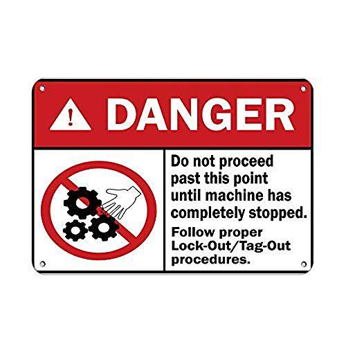 JUNGK Danger Follow Proper Lock-out/Tag-out Avoid Cartel Chapa Placa Metal Pintura De Hierro Vintage Figura Personalizada Señales Advertencia Almacenar Casa Café Bar Cocina
