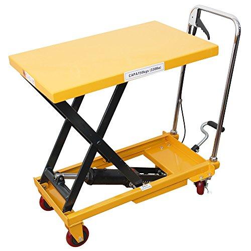 台車 運搬台車 油圧式リフトテーブル 積載荷重150kg テーブル高さ最大730mm