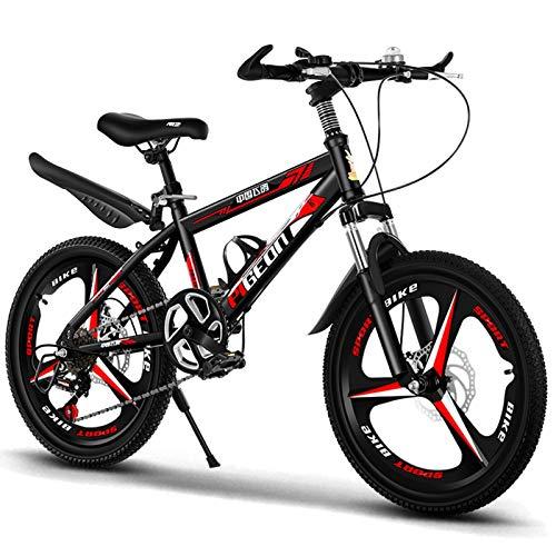 Axdwfd Infantiles Bicicletas Bicicleta para niños de 20 Pulgadas, Adecuado para niñas y niños de 9 a 14 años, con Freno de Mano, Rojo, Azul. (Color : Red)