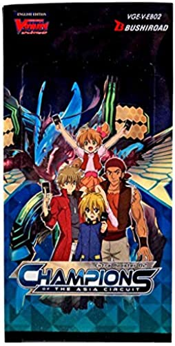 Cardfight VGE-V-EB02-EN Vanguard Champions of The Asia Circuit Booster Display, 12 Packungen