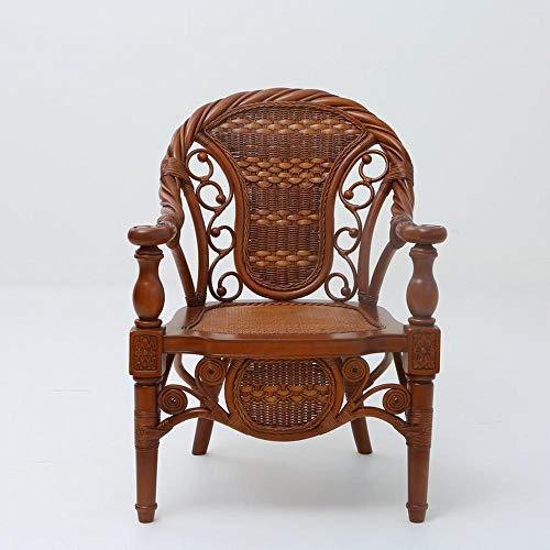 Lange termijn aanbieding kleine rotan stoel buiten rieten stoel