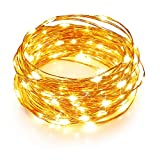 TaoTronics LED String Lights 33ft with 100 LEDs, Waterproof Outdoor & Indoor...