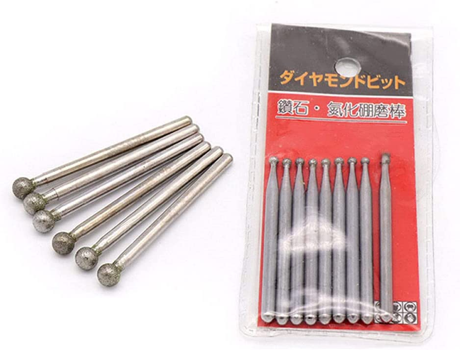 3mm Shank Round Ball Diamond Sales of SALE items from new works Grind Cutter Carve Cheap Head Jade Needle