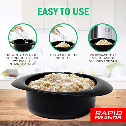 Product Image 3: Rapid Oatmeal Cooker   Microwave Instant or Old-Fashioned Oats in 2 Minutes   Perfect for Dorm, Small Kitchen, or Office   Dishwasher-Safe, Microwaveable, & BPA-Free