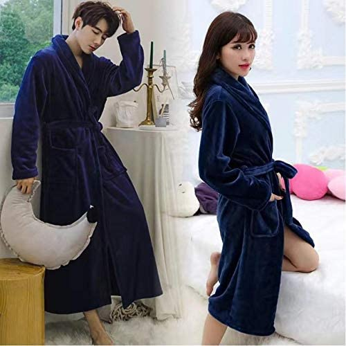 ZPDHY Winter Nightgown low-pricing Couple Coral OFFicial site Fleece Sleepwear Robe Casual