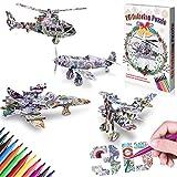 GrandEver Set di Puzzle da colorare 3D,Pittura da colorare con Arte Puzzle 3D...