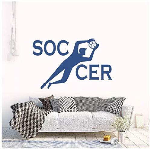 tinghua Goal Keeper Soccer Player Pegatinas De Pared Calcomanía Deportiva para Decoración del Hogar Y El Dormitorio 57 * 37Cm