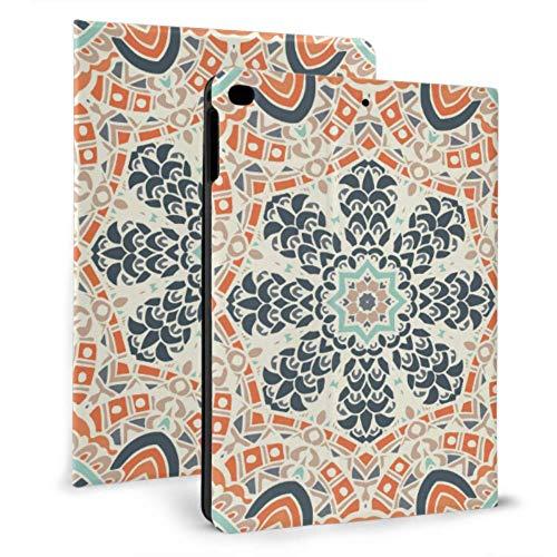 JOCHUAN iPad Tablet Cover Mandala Ethnic Geometric Fashion iPad Cover Protector para iPad Mini 4 / Mini 5/2018 6th / 2017 5th / Air/Air 2 con Auto Wake/Sleep Funda magnética para iPad para Mujeres
