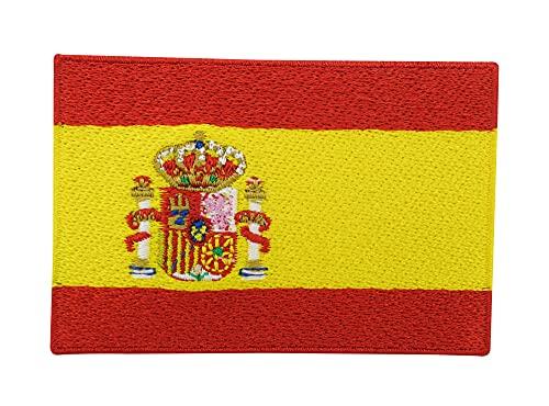 Spanien Flagge Patch zum Aufbügeln | Spanische Fahne Patches, Spain Flag Bügelbild, WM Trikot Aufbügler, Aufnäher Finally Home