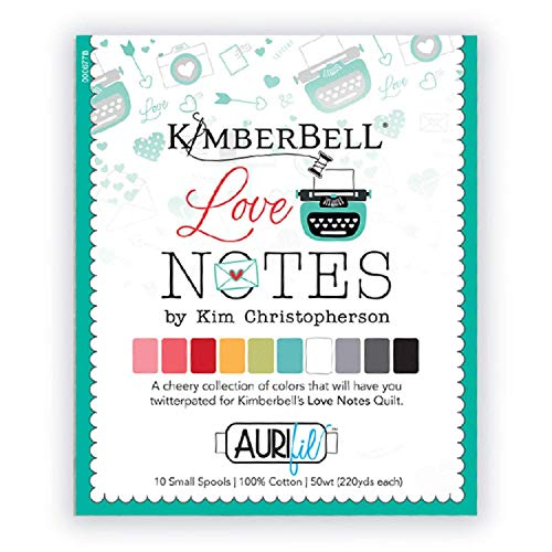 Aurifil Designer Thread Collection-Love Notes By Kimberbell Designs