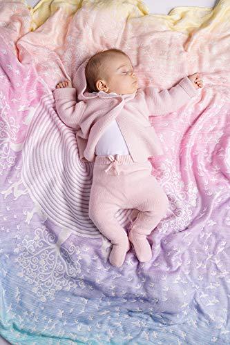 KOKADI kuschelige und weiche BabyDecke Marie im Wunderland aus 100% Bio-Rohstoffen ✓ ideal für Neugeborene