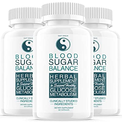 (3 Pack) Blood Sugar Support Balance Supplement, Blood Sugar Herbal Advanced Formula Pills Capsules - Supports Diabetic High Blood Pressure, Reduced Inflammation - Improved Blood & Immune Health from Swift Breeze Fitness