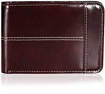 Mokzer Genuine Leather RFID Thin Bifold Men's Wallet