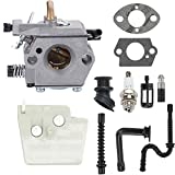 Mengxiang WT-194 Carburetor for Stihl 026 MS240 024 024AV 024S MS260 Chainsaws Walbro WT-194-1 Stihl 1121 120 0611 11211200611 Tillotson HU-136A HS-136A with 1121 120 1617 Air Filter Turn up kit