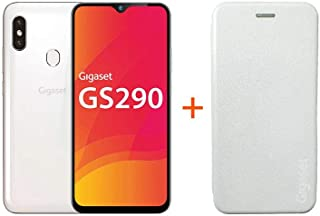 Gigaset GS290 Smartphone (16,0 cm)   16 MP Frontkamera, Android 9 Pie, 64 GB interner Speicher, 4GB RAM   Pearl White+ EXTRA Hardcover Hülle