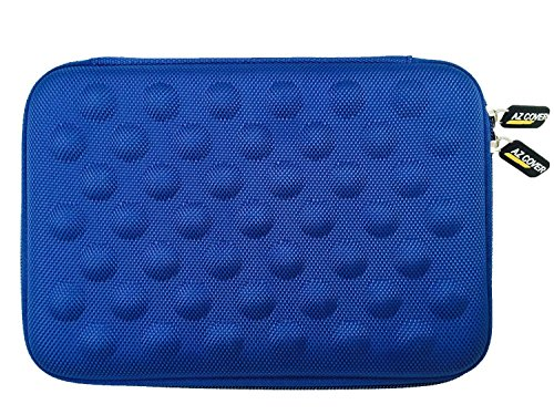 AZ-Cover 10.1-Inch Tablet Semi-rigid EVA Bubble Foam Case (BLUE) For LINSAY NEW F10XHD F10XHDBDG F10XHDBDS Android 4.4 Kit Keyboard Tablet + One Capacitive Stylus Pen