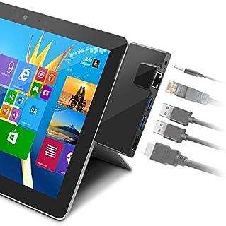 Rocketek Microsoft Surface Go (サーフェス ゴー) 7in1・多機能USB Type C ハブ 専用ドッキング LANポート付き5Gbps 高速データ/写真/ビデオ転送