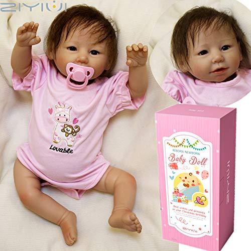 ZIYIUI 50 cm Bebe Reborn Muñeca Chica Silicona Realista Muñecos Muchacha Reborn Babys Dolls Niña Recién Nacido 20 Pulgadas Niños Juguete