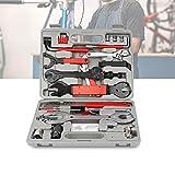 Hengda Fahrrad Werkzeugkoffer, 48 TLG Fahrradwerkzeug Reparaturset Hochwertig,(46+2*Handschuhe) Multifunktionswerkzeug Set, 3.1KG Multitool für die Reparatur von Reifen, Bremsen, Lichtern und Ketten