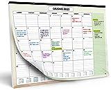 Calendario da Muro 2022 – Calendario da Scrivania Mensile, Luglio 2021 fino a Dicembre 2022 – Visualizzazione a un Mese – 33 x 43 cm