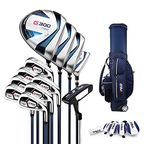 WYSTAO Herren Komplettes Golfschläger Set Tasche Schläger Aus Graphit Golf Komplettset Eisen Hölzer Driver Bag Mit 12-Club-Ständer Und Tasche (Color : R Carbon Rod+Telescopic Bag)
