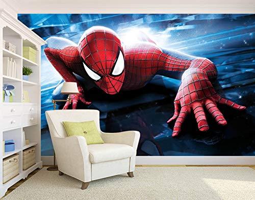 3D Wallpaper Wohnzimmer Schlafzimmer Erstaunliche Spider-Man Fototapete Benutzerdefinierte Superheld Tapete 3D Wandbild Kinder Jungen Schlafzimmer Wohnzimmer Sofa TV Hintergrund