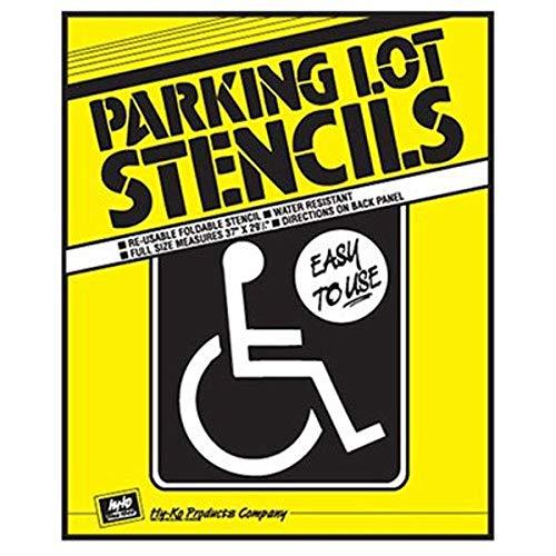 "Hy-Ko Products PLS-10 Handicap Parking Lot Stencil 32.5"" x 25"" White"