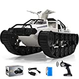 RC Crawler, 1:12 Scale Remote Control Tank Car with Rechargeable Battery, 4WD High Speed, 2.4GHz Radio Controler, Play Gifts for Kids & Adults(White)