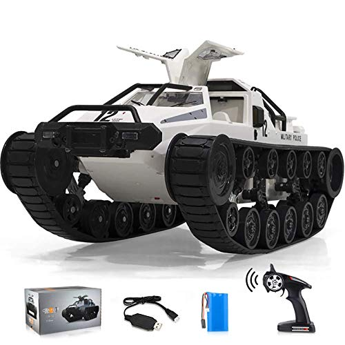 RC Crawler, 1:12 Scale Remote Control Tank Car with Rechargeable Battery, 4WD High Speed, 2.4GHz Radio Controler, Play Gifts for...