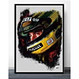 PHhomedecor Leinwanddrucke Poster,Ayrton Senna F1 Legend