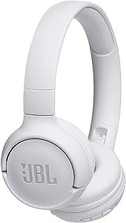 JBL Tune500BT - Auriculares supraaurales inalámbricos con conexiones multipunto y asistente de voz Google now o Siri, batería de 16 h, blanco