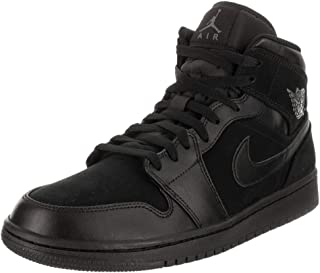 554724-050: Mens Retro 1 Mid Basketball Black/Dark Grey Sneaker (7.5 D(M) US Men)