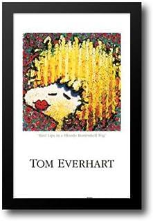 Bird Lips in a Blonde Bombshell Wig 28x40 Framed Art Print by Everhart, Tom