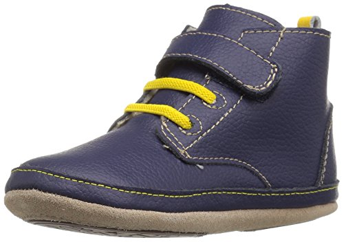 Robeez Boys Boot, Nick Navy, 6-9 Months M US Infant