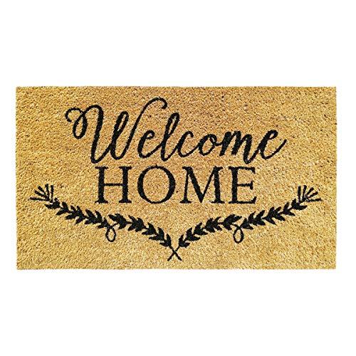Banzaii Felpudo de Coco 40 x 70 cm Fijado a una Base de PVC Antideslizante – Welcome Home
