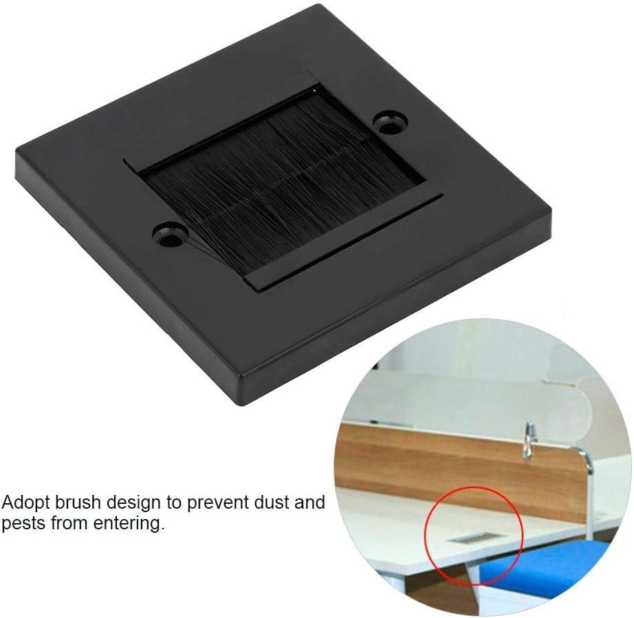 Wifehelper Prevenci/ón de Polvo Cepillo Cable Placa de Pared Puerto Insertar Cubierta Salida Montaje Panel Adoptar Cepillo #1